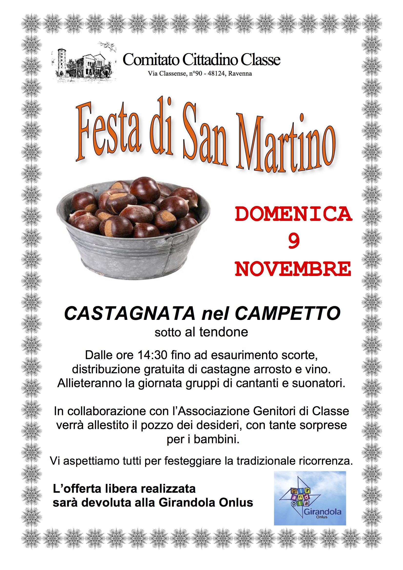 Volantino Festa di San Martino 2014